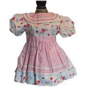 REDUCED Pretty Vintage Dress for Composition or Hard Plastic Doll-Valentine Special!