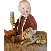 SALE Adorable Armand Marseille 351 Character Baby with Tiger