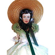 Franklin Mint Scarlett O'Hara Vinyl Portrait Doll