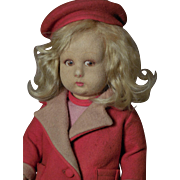 "SALE 13"" Lenci 111 Series-Girl in Red Coat and Cloche Hat-Valentine Special!"