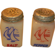 McKee Vintage Milk Glass Range Salt and Pepper Shakers