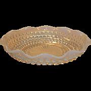 Anchor Hocking Moonstone Opalescent Ruffled Dish