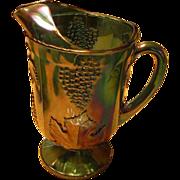 Indiana Glass Grape Leaf Pitcher Carnival Glass