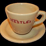 Nestle's Cup and Saucer Shenango China Inca Ware