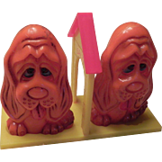 SALE Cute Dog Salt and Pepper Shakers on Stand