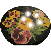 Decorative Floral Sewing Tin For Thread, Needles or Buttons