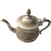 SOLD Decorative Brass Teapot Floral Design