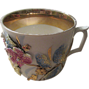 German Shaving Mug With Floral and Gold Trim
