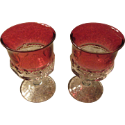 Ruby Flash Thumb Print Wine Glasses