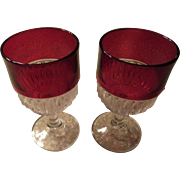 SALE Ruby Flash Vintage Wine Glasses Perfect for a Toast