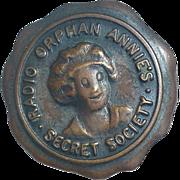 SOLD 1930's - Radio Orphan Annie's  Secret Society - Pinback Button