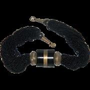 Statement Piece  Black 50 Strand Black Glass Seed Bead Torsade Necklace