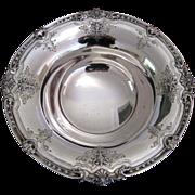 Large Sterling Silver Pedestal Bowl c.1910 Antique Baskets Flowers