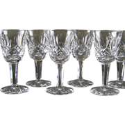 Waterford Crystal Cordial Glasses Lismore Set of 6 - 2 Sets available