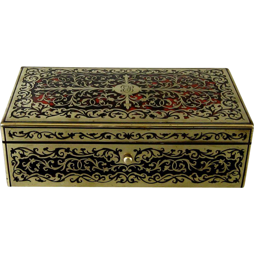 Antique Boulle Playing Card Table Box From Rubylane Sold