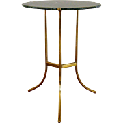 Cedric Hartman Bronze & Marble Gueridon Table c1970 Vintage Occasional Side Table