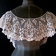 Antique Carickmacross Lace Bertha Collar