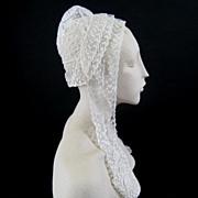 Antique Carrickmacross Lace Bonnet c.1860