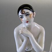 Dressel & Kister Half Doll Pierrette Art Deco Vintage Pierette  Pincushion