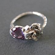 SOLD Ring Sterling Silver Color Change Alexandrite
