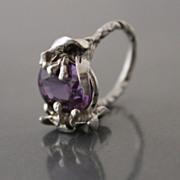 Ring Sterling Silver Color Change Czochralski Alexandrite
