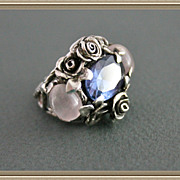 Silver Color Change  Alexandrite Rose Quartz