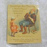 Horsford's Acid Phosphate the Little dancer Victorian trade card