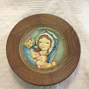 Anri Ferrandiz Mother's day 1974 wooden plaque