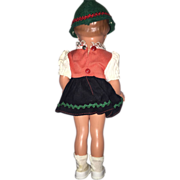 Turtle Mark girl #22 Vintage Celluloid doll w dress!
