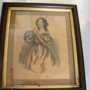 Super framed Kellogg Hartford ct Devotion antique lithograph women praying!