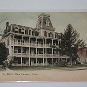 ANTIQUE 1906 Rotograph hotel New Canaan CT Connecticut
