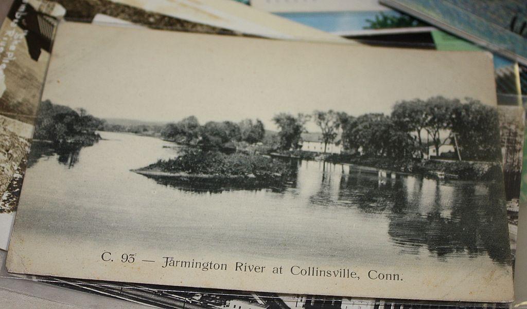 Farmington River at Collinsville CT Connecticut postcard
