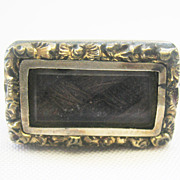 Lovely Antique Small Georgian Rolled Gold Mourning Pin