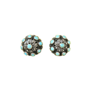 Vintage Sterling Ottoman Empire Persian Turquoise Earrings