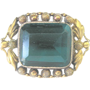 Antique 14 kt Late Georgian Early Victorian Pin Brooch