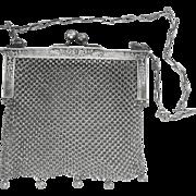 SOLD LAST CHANCE..Antique Victorian German Silver Mesh Purse