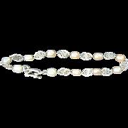Vintage Sterling Cultured Pearl Bracelet