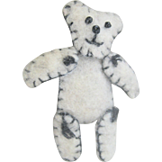 Vintage Hand Made Wool Mohair Movable Teddy Bear Pin
