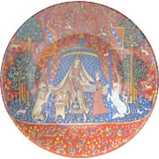 Vintage The Lady and The Unicorn Tapestry Haviland Limoges Plate
