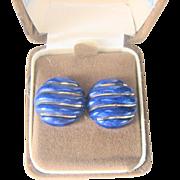 Vintage 14 kt Lapis Earrings