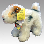 SOLD Steiff Fox Terrier - Foxy 1308.0 w/ Button & Name Tag