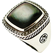 David Yurman Silver Diamond Albion Ring