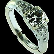 Art Deco .80cts Diamond Ring