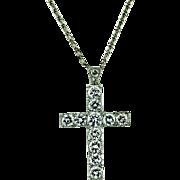 Vintage Platinum and Diamond Cross
