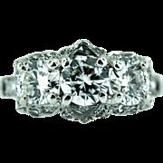 """Vintage """"Birks Ellis"""" Platinum and Diamond Ring"""