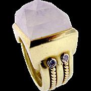 Vintage 18KT Moonstone Ring