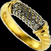 Vintage David Yurman 18KT Diamond Twisted Rope Ring