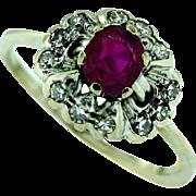 Vintage Custom Made Burmese Ruby Ring