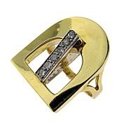 Unique Gold Buckle Ring
