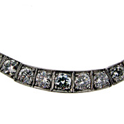 Hand Made Art Deco Platinum 5.33 cts Diamond Necklace